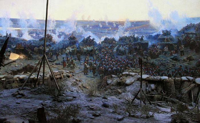 """фото панорамы  """"Оборона Севастополя 1854-1855г. смотрите в соответствующем альбоме."""