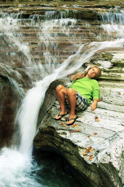 Водосток в каньоне Бешенки