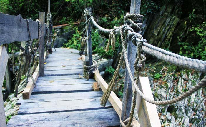 Мост в каньоне Бешенки
